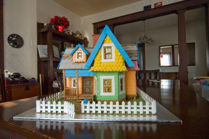Gingerbread Carl's House from Pixar's UP Front View